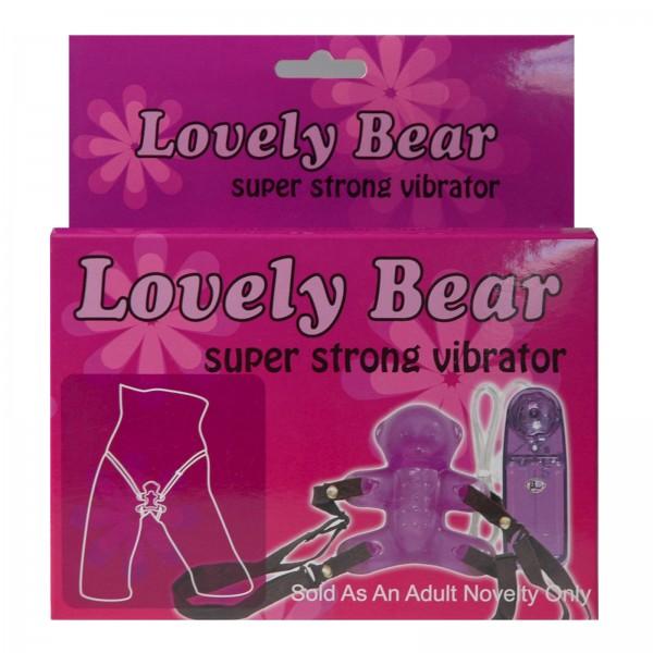Strapon Lovely Bär zum Umschnallen aus slikonähnlichen Jelly Material mit Vibrator