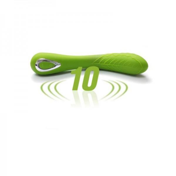 Silikon Vibrator RUSCH LOVE in apfelgrün, wasserdicht, wiederaufladbar Ø 3,4 cm 19 cm lang Kurvendes