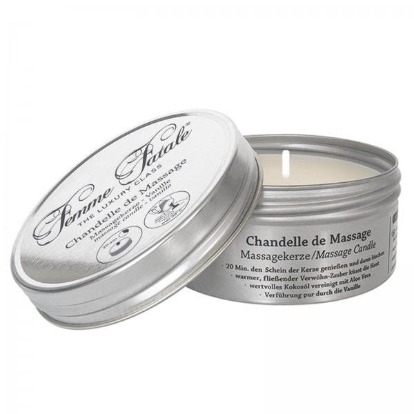 Femme Fatele, Chandelle de Massage, Massagekerze Vanille, 125 ml