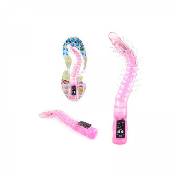 Vibrator mit Soft Silikon - Ø1,8 cm 27,6 cm lang pink Crystal